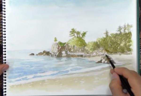 水彩画講座のレッスンイメージ